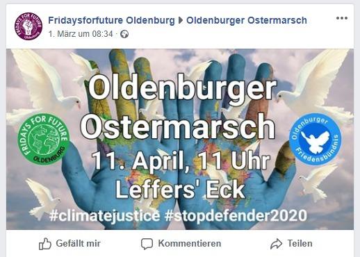 FFF-Mobilisierung: Aufruf zum Ostermarsch 2020
